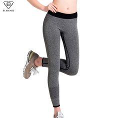 B. PATLAMA Kadınlar için Spor Koşu Pantolon Spor Tayt Kadın Spor Tayt Çabuk Kuruyan Pantolon Elastik Kapriler ropa deportiva