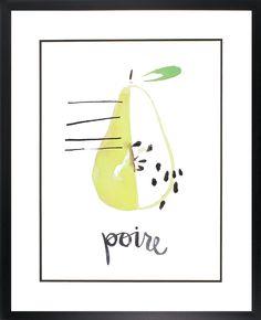 Poire Framed Graphic Art