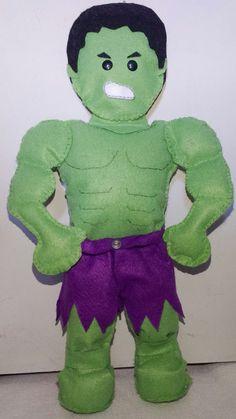 Hulk em feltro (by Anapsiana)