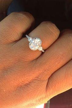 Diamond Wedding Rings : oval centre x in Ritani Bella Vita setting with . - Buy Me Diamond Wedding Engagement, Wedding Bands, Oval Engagement, Wedding Ring, Wedding Gold, 3 Diamond Engagement Rings, Bridal Rings, Perfect Wedding, Dream Wedding