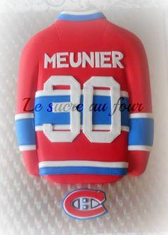 Montreal Canadien jersey cake Hockey Birthday, Hockey Party, 40th Birthday, Birthday Ideas, Montreal Canadiens, Delicious Cake Recipes, Yummy Cakes, Hockey Cakes, Cupcake Cakes