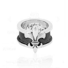 Mignon faget Fleur-de-lis Ring Brand New!! Never worn!! Comes with Mf. pouch. Sterling silver. Signed. Heavy quality silver. Will need to be cleaned. Mignon Faget Jewelry Rings