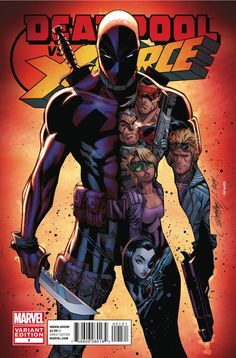 Deadpool vs X-Force :: 1 variant by J. Scott Campbell