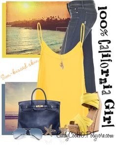 """""""Blue & Yellow Contest"""" by cindycook10 ❤ liked on Polyvore"""