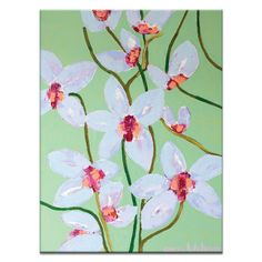 Orchids 1 by Anna Blatman Painting Print on Wrapped Canvas