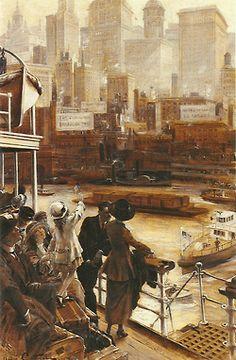 Jean André Castaigne, L'arrivée à New York
