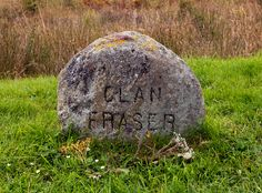 For my fellow outlander fans: Clan Fraser headstone, Culloden Battlefield, Scotland