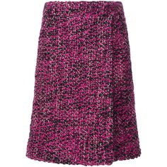Faux Wrap Skirt | Moda Operandi (31.680.910 VND) ❤ liked on Polyvore featuring skirts, prada, side slit skirt, faux-leather skirts, purple skirt, knee length skirts and faux wrap skirt