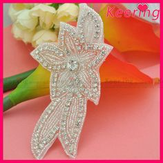 wholesale bridal rhinestone crystal applique for sash WRA-516 #all_star_shoes, #outfit