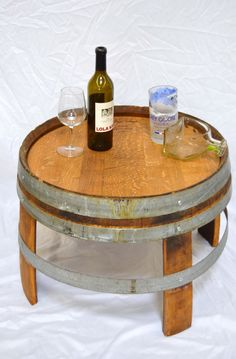 Whiskey Barrel Table   Mom 4 Real | Whiskey Barrels, Bourbon And Barrels
