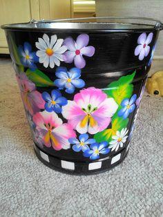 Decorative 3 gallon Garden Pail by krystasinthepointe on Etsy