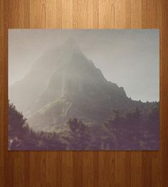 A dreamy mountain scape for a dreamy beloved space. Real photography on real photo paper; hooray for the authentic!