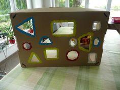 thema dozen: verschillende vormen door het juiste opening steken.  D: op kleur