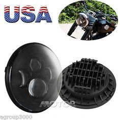 """49786 motorcycle-parts 7"""" MOTORCYCLE BLACK PROJECTOR DAYMAKER LED LIGHT BULB HEADLIGHT LAMP FOR HARLEY  BUY IT NOW ONLY  $119.55 7"""" MOTORCYCLE BLACK PROJECTOR DAYMAKER LED LIGHT BULB HEADLIGHT LAMP FOR HARLEY..."""