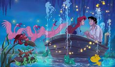 """Did you know that the Little Mermaid was originally expected to be blonde? So, how did Ariel acquire her flaming red locks? Ron explained that both directors """"are red-headed – or were! – and red hair just seemed to fit Ariel's personality."""" It doesn't hurt that red hair looks spectacular against a turquoise underwater backdrop."""