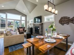 Abundant natural light and comfortable furnishings fill the second floor living space.