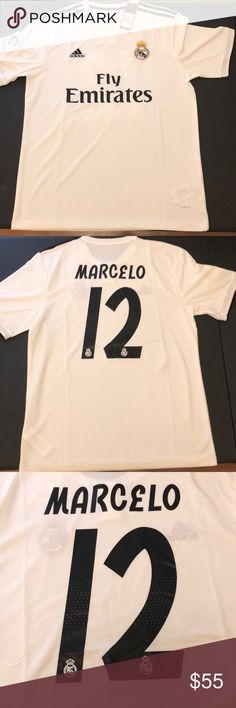 Real Madrid Marcelo 12 Jersey Brand new with tags adidas Shirts Tees -  Short Sleeve c30b3df7a