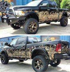 black camo Dodge Ram