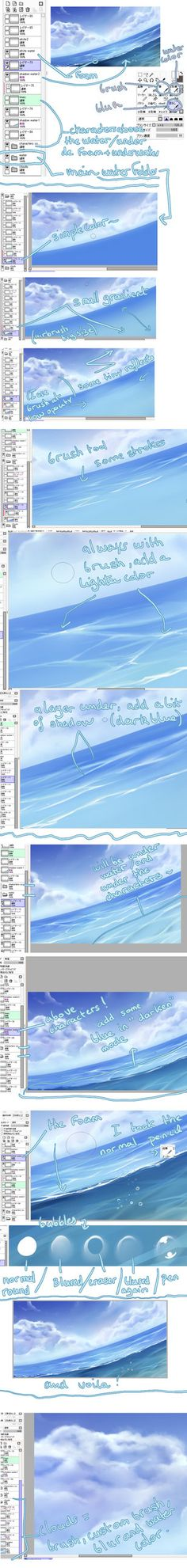 water tutorial by kuro-mai on deviantART