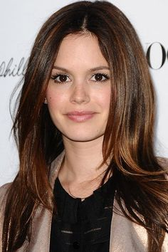 Rachel Bilson does grown-up chic best with these sleek straightened tresses and volume at the roots.