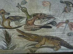 Mosaico romano en Pompeya