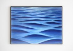 Large Sea Wave Painting Original Acrylic on Canvas Abstract Artwork