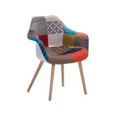 Zuo Modern Safdie Occasional Chair Safdie Beechwood Occasional Chair (€260) ❤ liked on Polyvore featuring home, furniture, chairs, accent chairs, occasional chairs, patchwork multicolor, seating, colorful furniture, outdoor furniture and pattern chair