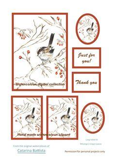 Carte numérique Tit à longue queue. Mésange. Papier imprimable. Papier d'artisanat, Carte de voeux, Carte postale, Ephemera, Junk Journal, Collage, Scrapbooking