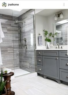 Double Bathroom Vanity Designs Ideas - If space authorizations, 2 sink areas provide wonderful benefit in shared washrooms. Locate ideas for bathroom vanities with double the space, . bathroom ideas Top 10 Double Bathroom Vanity Design Ideas in 2019 Bathroom Interior, Bathroom Remodel Shower, Bathroom Flooring, Luxury Bathroom, Bathroom Renovations, Bathroom Vanity Designs, Double Vanity Bathroom, Restroom Remodel, Vanity Design