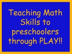 Preschool Powol Packets: Teaching Math Skills through PLAY!!