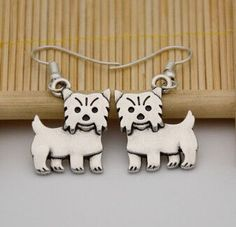 Boho Chic Vintage Yorkshire Terrier Dog Drop Earrings Brinco Aros Long Earrings For Women Boucle D'oreille From Indian Jewelry