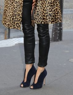 leather + leopard just got shoes similar to this at Payless I love them!!!