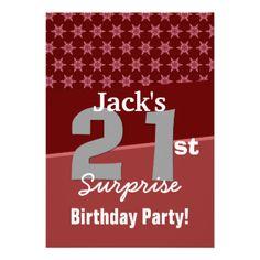 21st Surprise Birthday Teal  Diamonds U700 Announcement  #jaclinart #invitation #favor #surprise #birthday #invites #21stBirthday