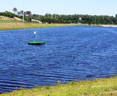 Nocatee's new floating green is located beside Nocatee's Town Center. #golf #familyfun #residentperks