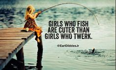 Yeah!  There's nothing sexier then me in hip waders!  Lol. But I love the peace and quiet of fishing...