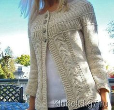 Ravelry: shadystroll's Shalom Cardi - free pattern chunky cream cardigan w/ cable panels and round yoke Knitting Patterns Free, Knit Patterns, Free Knitting, Free Pattern, Knitting Sweaters, Sweater Patterns, Cardigan Pattern, How To Purl Knit, Knit Or Crochet