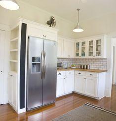 Craftsman Cottage in Laurel Mississippi refrigerator cabinet