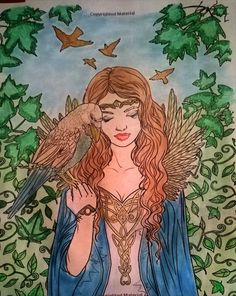 Coloured By Janet Suddeth Wright‎. colored mostly with eye shadow.