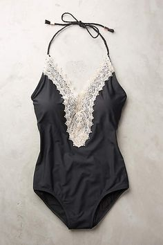Lace-Front Maillot - anthropologie.com