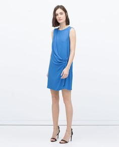 Image 1 of CROSSOVER BUCKLE DRESS from Zara