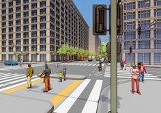 A Reimagined Spring and Main Streets in DTLA