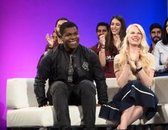 John Boyega talks about tech cyberbullying and catching a Pikachu on the set of Star Wars