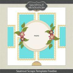 Seatrout Scraps Template Freebie