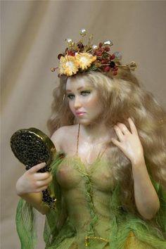 OOAK Fantasy fairy pixie fae art doll sculpture ADSG IADR by Kate Sjoberg