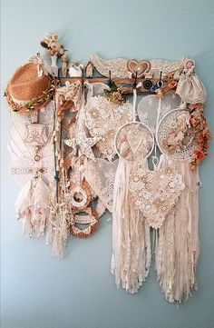 Doily dream catchers and hearts