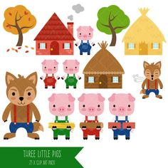 three little pigs clipart nursery clipart three little pigs rh pinterest com three little pigs clipart black and white 3 little pigs clipart free