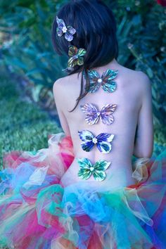 So pretty and whimsical, I think I'd need a shirt personally but would be cute on the back of a shirt