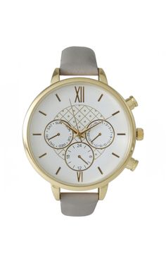 Margo Grey Watch by: ILY COUTURE ilycouture.com Classical #Watches and #Accessories and much more.