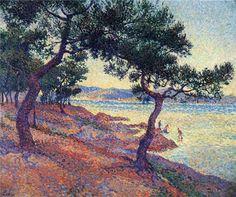 Saint Tropez, Les Canoubiers 1897, by Maximilien Luce
