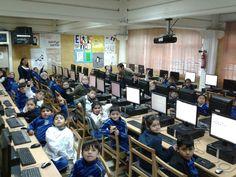 Alumnos de primero básico realizan pruebas online matemática , cuya finalidad es conocer los aprendizajes adquiridos en esta área.